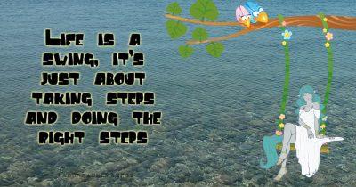 La vita è un'altalena * Life is a swing ***FRASE DEL GIORNO * QUOTE OF THE DAY