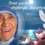 Three words challenge departure finish line