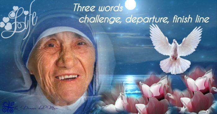 Three words challenge start finish line